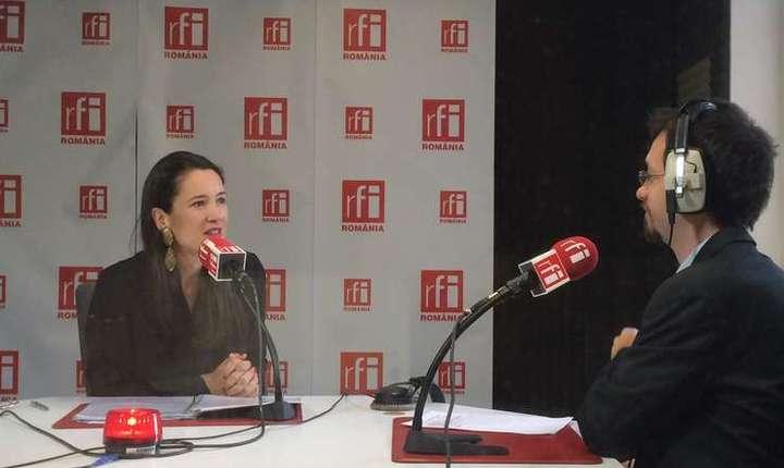Clotilde Armand, în studioul RFI (arhivă)