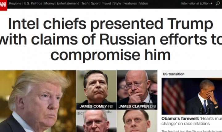 Sefii servicilor de informatii l-au informat pe Donald Trump cà rusii au încercat sà-l compromità, explicà CNN pe site-ul sàu