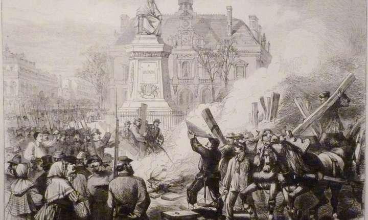 Comuna din Paris, revolutionarii dau foc ghilotinei