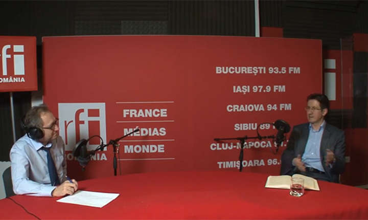 Constantin Rudniţchi și Cristian Tudorescu in studioul RFI Romania