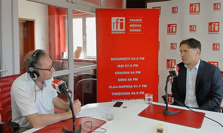 Constantin Rudniţchi si Dan Bădin la RFI