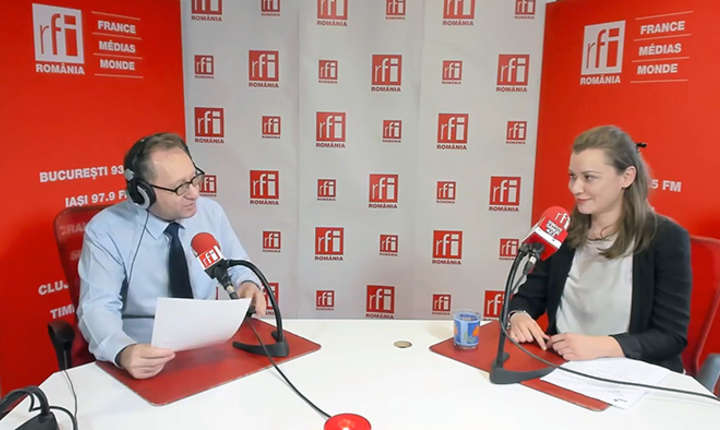 Constantin Rudniţchi si Raluca Popa in studioul RFI Romania