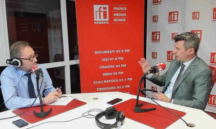 Constantin Rudniţchi si Dragoş Vîlceanu la RFI Romania