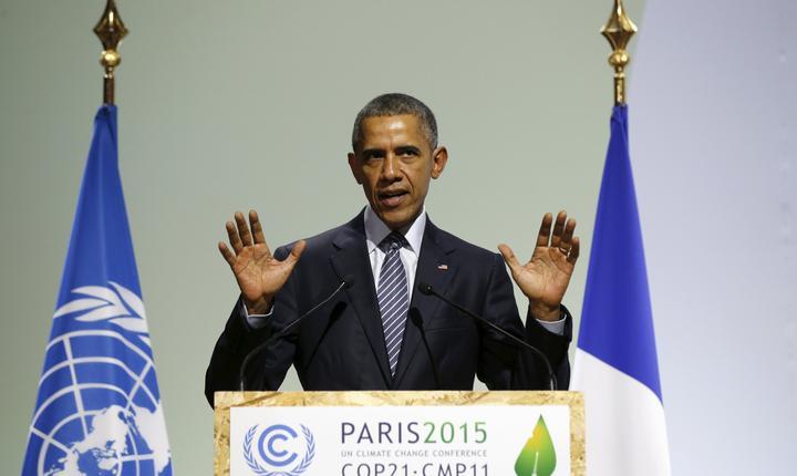 Preşedintele american, Barack Obama, la COP21 (Foto: Reuters/Kevin Lamarque)