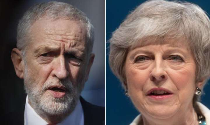 Jeremy Corbyn și Theresa May