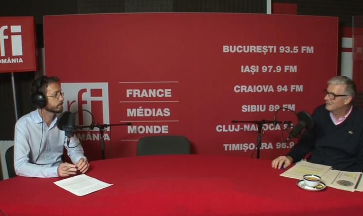 Cosmin Ruscior și Valentin Negoiţă in studioul RFI Romania