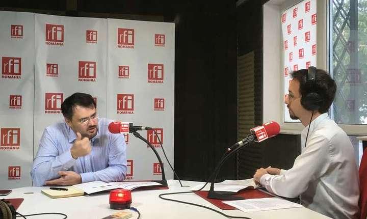 Cristian Ghinea, în studioul RFI România (arhivă)