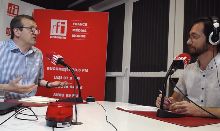 Cristian Preda, în studioul RFI