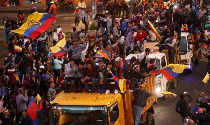 Manifestaţii în capitala Ecuadorului, Quito.