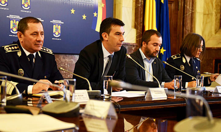 Ministrul Afacerilor Interne, Dragoş Tudorache, al doilea din stânga (Sursa foto: site MAI)