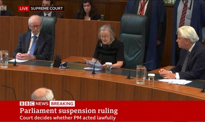 Lady Hale, președinta Curții Supreme a Regatului Unit
