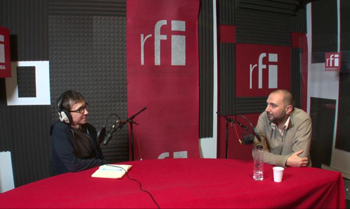 Dan Pârvu si Dan Popescu în studioul RFI Romania