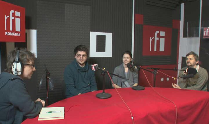 Dan Pârvu în dialog cu regizorul Adrian Sitaru şi actorii Alina Grigore şi Robi Urs.