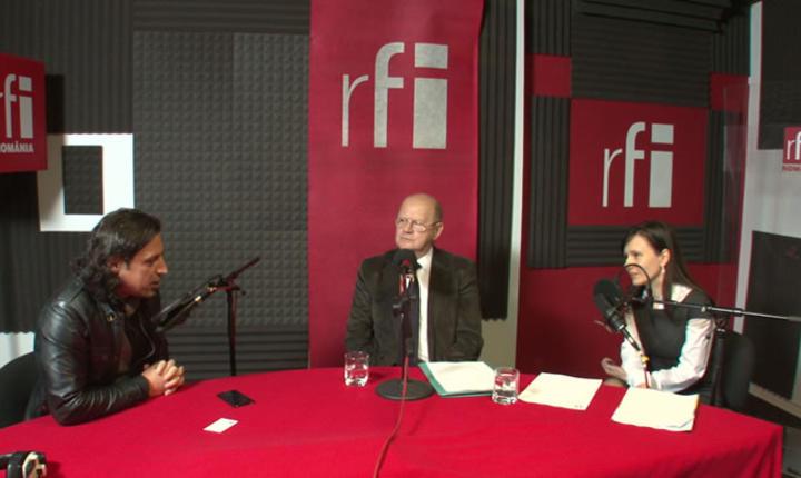 Dan Pavel, Stefan Nicolau si Naiana Milea in studioul RFI Romania