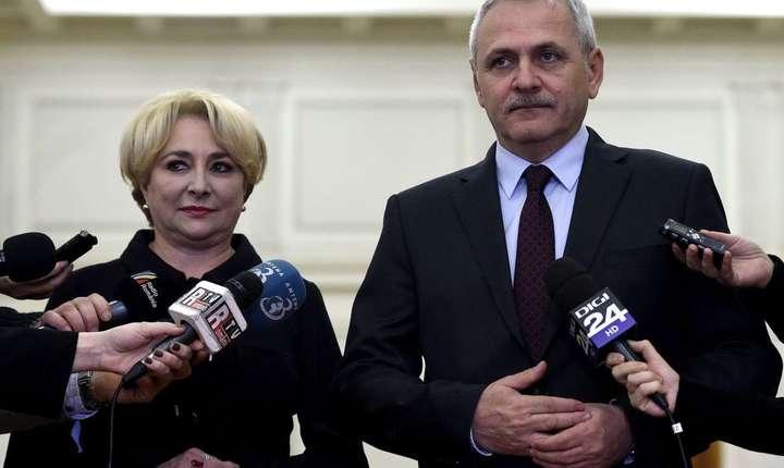 Premierul Viorica Dăncilă și președintele PSD Liviu Dragnea