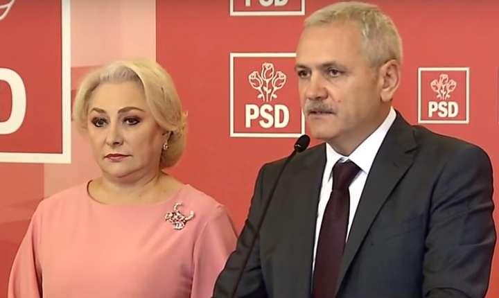 Premierul Viorica Dăncilă și președintele PSD, Liviu Dragnea, au anunțat împreună modificările din Guvern