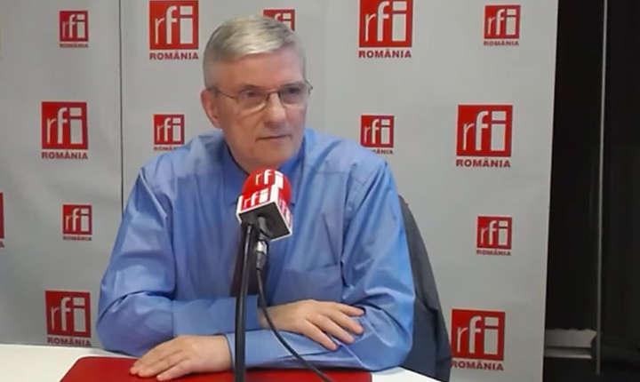 Daniel Dăianu in studioul radio RFI Romania