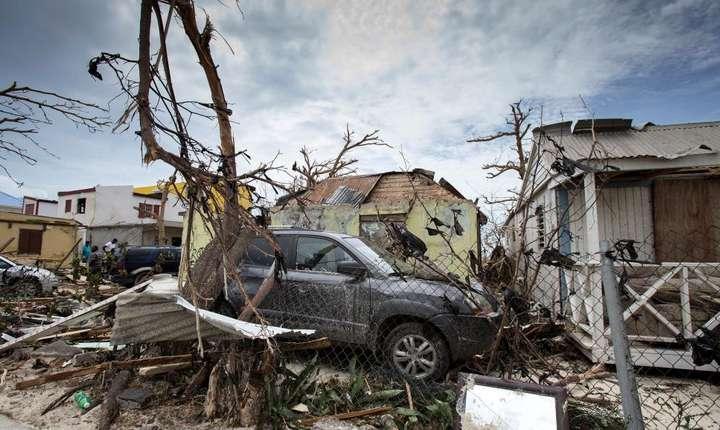 Distrugeri provocate de uraganul Irma la Saint Martin