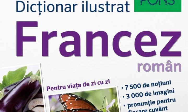 Coperta dicţionarului ilustrat francez român Pons