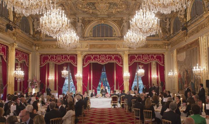 Dineu de stat oferit la Palatul Elysée în onoarea regelui Felipe al Spaniei, 2 iunie 2015