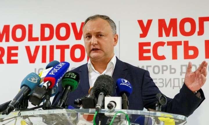 Socialistul prorus Igor Dodon a câștigat alegerile prezidențiale din Republica Moldova în dauna proocidentalei Maia Sandu