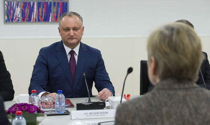 Igor Dodon în vizita la NATO