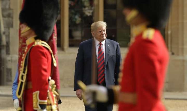 Donald Trump, aflat în vizită în Marea Britanie (Foto: AFP/Matt Dunham)