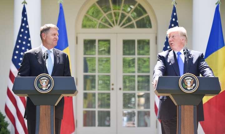 Klaus Iohannis, declaraţii comune cu Donald Trump, la Casa Albă (Sursa foto: www.presidency.ro)