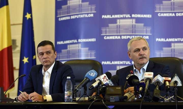 Sorin Grindeanu şi Liviu Dragnea (Sursa foto: www.psd.ro)