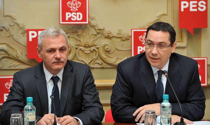 Președintele PSD, Liviu Dragnea, și fostul lider social-democrat Victor Ponta