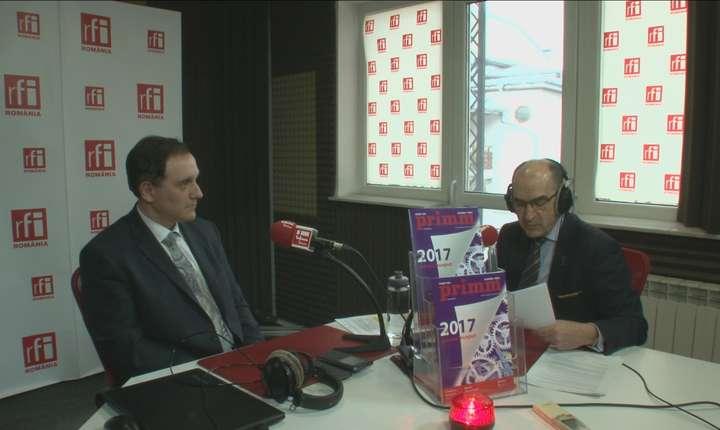 Călin RANGU şi Sergiu COSTACHE in studioul radio RFI Romania