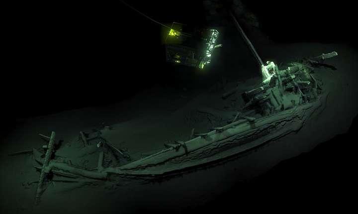 Epavă pe fundul Mării Negre