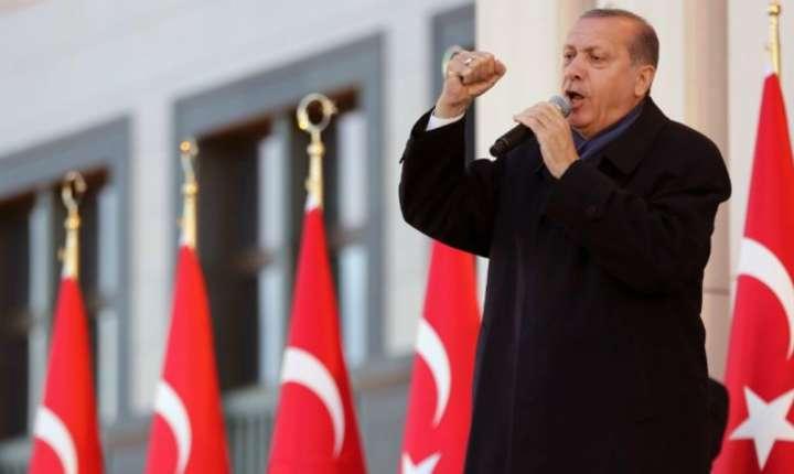 Recep Tayyip Erdogan în aprilie 2017