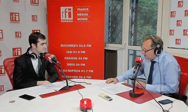 Claudiu Năsui și Constantin Rudniţchi in studioul RFI Romania