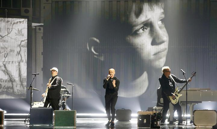 Trupa Voltaj, la repetiţii, pe scena Eurovision (Foto: Reuters/Leonhard Foeger)