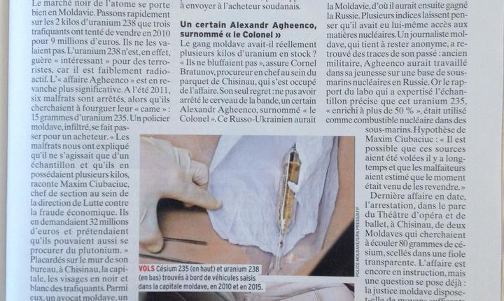 Ancheta din L'Express despre traficantii moldoveni de produse radioactive