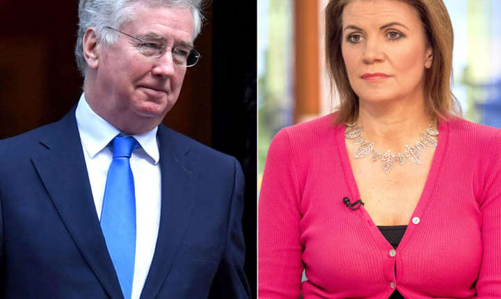 Michael Fallon și Julia Hartley Brewer