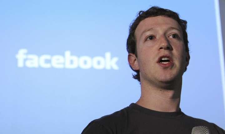 Mark Zuckerberg, patronul-fondator al retelei Facebook