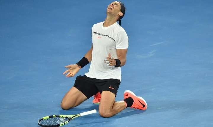Rafael Nadal s-a calificat în finala Australian Open (Foto: AFP/Peter Parks)