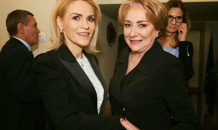 Primarul Bucureștiului, Gabriela Firea, alături de premierul Viorica Dăncilă