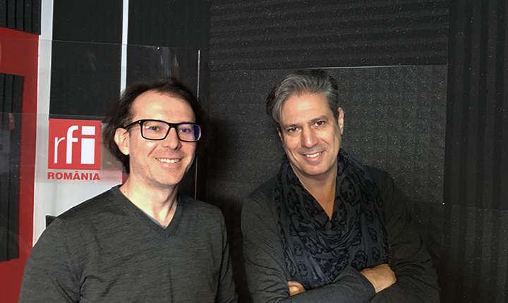 Florin Cîțu și Nicolas Don in studioul de inregistrari radio