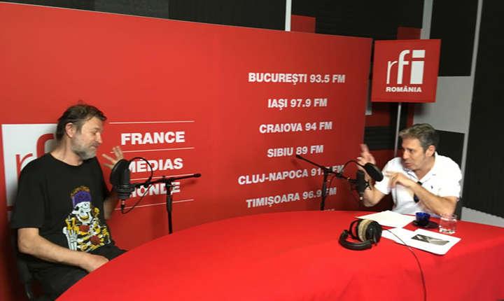 Florin Iaru si Nicolas Don in studioul RFI Romania