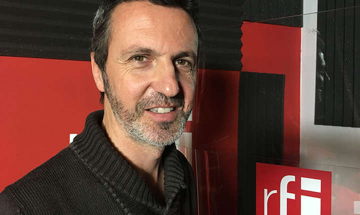 Laurent Couderc in studioul RFI