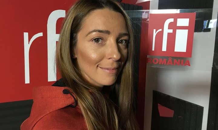 Andreea Zaragiu in studioul RFI Romania