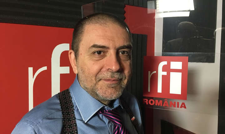 George Butunoiu in studioul RFI Romania