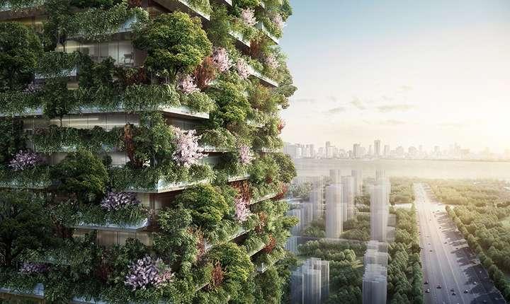 Clădire verde, la Nanjing, proiect al firmei italiene de design Stefano Boeri Architetti (Sursa foto: site Stefano Boeri Architetti)
