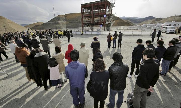 Un minut de reculegere a fost respectat si la Minamisanriku, în memoria victimelor seismului care a lovit Japonia în 2011