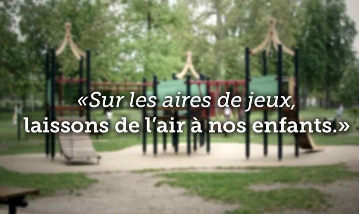 Campania contra fumatului în zonele de joacà pentru copii a asociatiei Liga contra cancerului