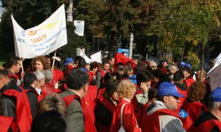 Funcţionarii din administraţia publică locală se pregătesc de proteste (Sursa foto: site SNFP)