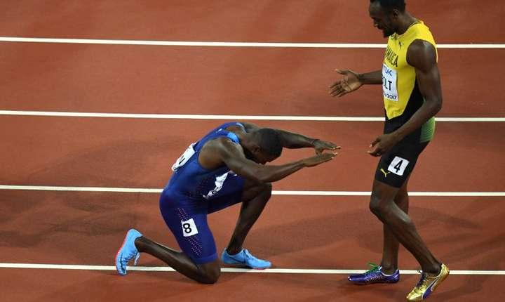 Justin Gatlin și Usain Bolt